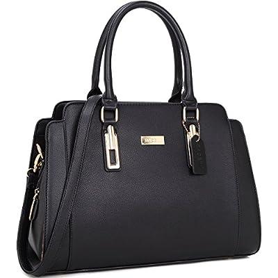 Dasein Women Designer Satchel Handbags Purse Shoulder Bag Work Bag With Removable Shoulder Strap