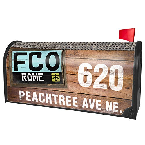 NEONBLOND Custom Mailbox Cover Airport Code FCO/Rome Country: Italy -