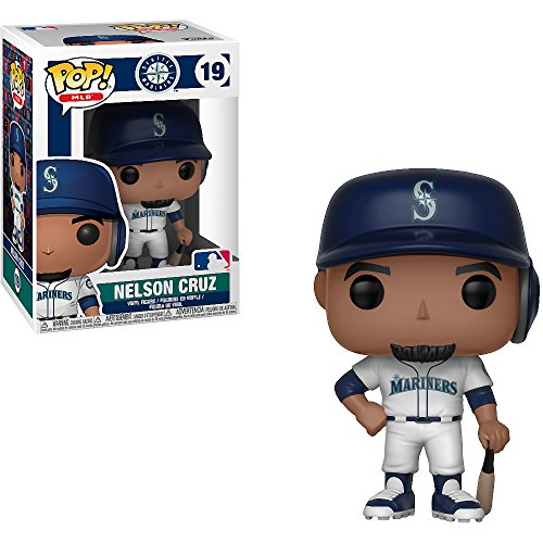 Funko Nelson Cruz [Seattle Mariners]: x POP! MLB Vinyl Figure + 1 Official MLB Trading Card Bundle [#019 / 30220] by Funko