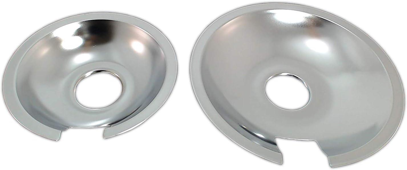 Kitchen Basics 101 Set of 4 Range Cooktop Drip Pan Replacement for Jenn Air 2 715878 2 715877 /&