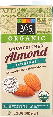 365 Everyday Value, Organic Almond Milk, Original Flavor, Unsweetened, 32 fl oz