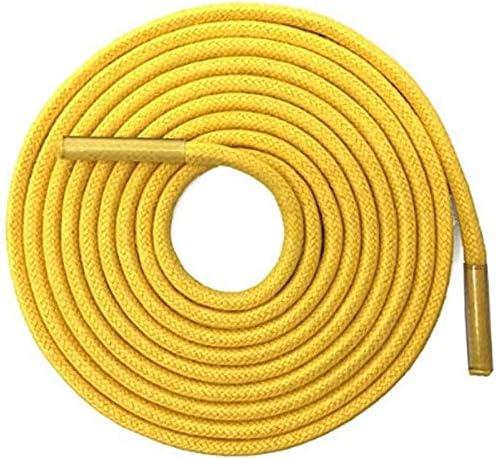 TMYQM 普通のブーツスニーカー のための固体太いラウンドワックス靴ひもドレスレザーシューズワックス靴ひもロープ文字列 (Color : 11 Bright Yellow, Size : 140CM)
