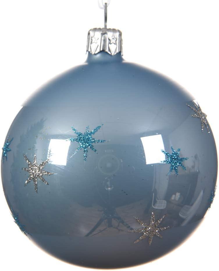 Kaemingk - Caja de 6 Bolas de Cristal para árbol de Navidad, Color Plateado Brillante (8 cm): Amazon.es: Hogar