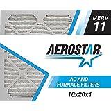 Aerostar 16x20x1 MERV 11 Air Filter, 16