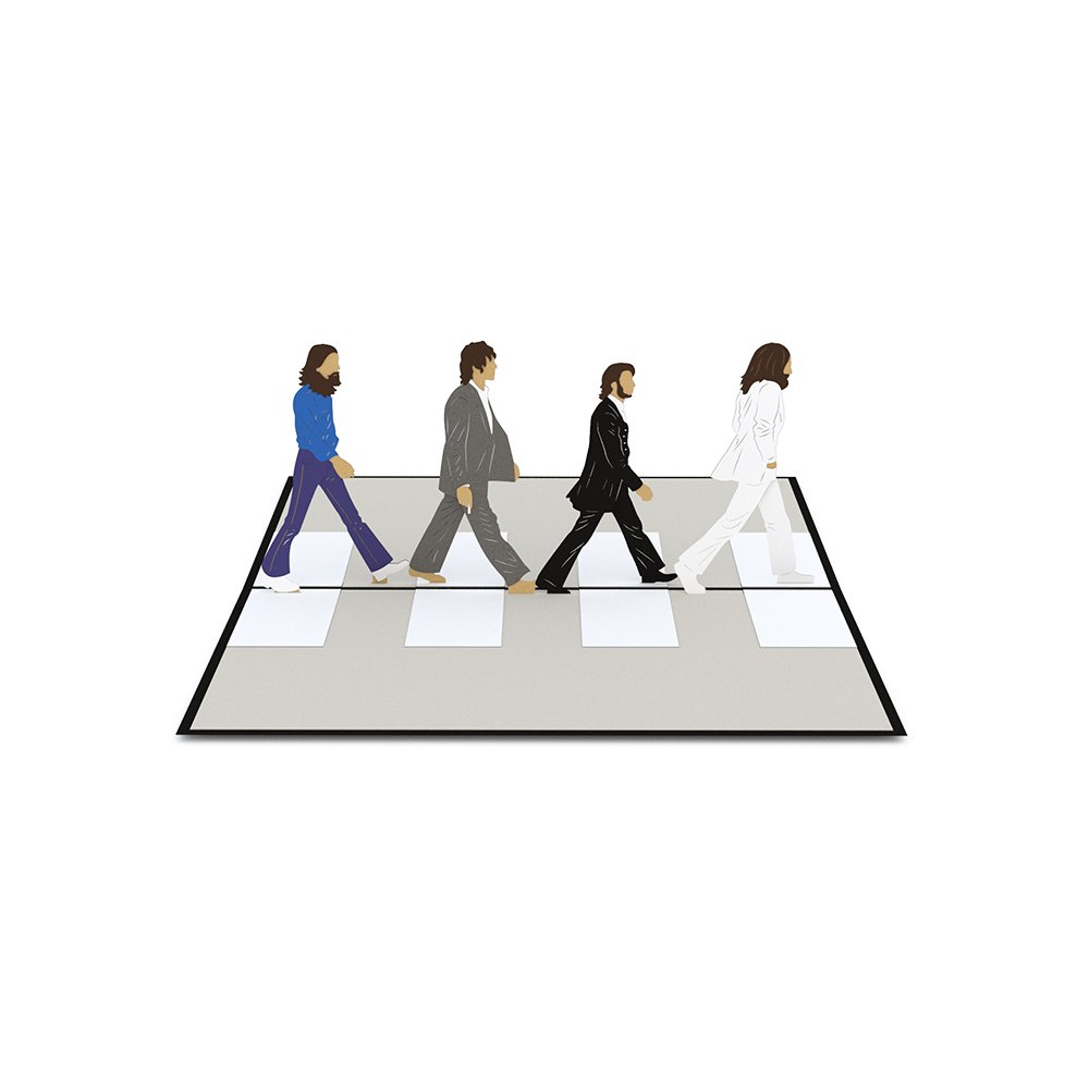 Lovepop The Beatles Abbey Road Pop Up Card Birthday 3D Greeting