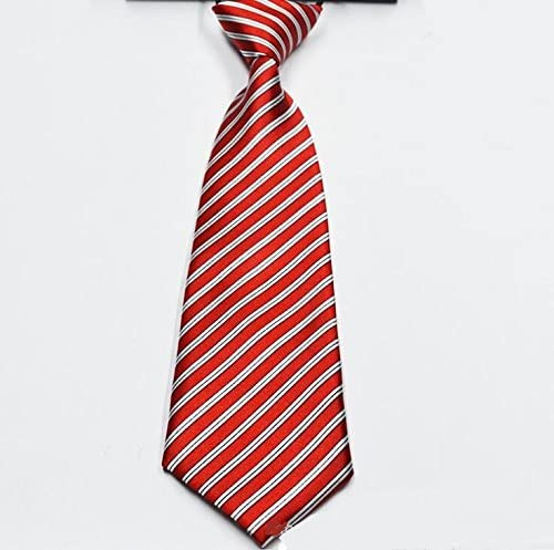 SHANF - Corbata de Microfibra para Niños, poliéster, Rojo, 28x6 ...