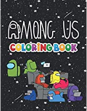 Ámóng Ús Coloring Book: +55 Ámóng Us colouring pages for Kids and Adults,+55 Amazing Drawings - All Characters , Weapons & Other...