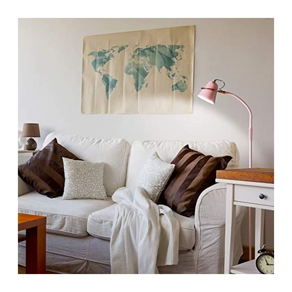 "Brightech Zoey - LED Reading, Craft & Task Floor Lamp - Dimmable & Light Color Adjustable with Touch Switch- Standing… - PLACE OVER A SOFA AND USE THE GOOSENECK TO DIRECT LIGHT INTO YOUR LAP: Place the Brightech Zoey beside the couch to light up the novel or cross-stitch you're holding in your lap. Use the flexible yet sturdy gooseneck to position the light perfectly. Once in place, it stays put. It stands up to 64 1/2"" base to top. INDUSTRIAL UPRIGHT LAMP SUITS MANY DECORS: The architect look of the Brightech Zoey pairs well with, urban, art deco, mid-century, contemporary, industrial or ultra-mod décor. Turns on and off easily via a touch switch, and dims with a stepless dimmer. DIMMABLE & LIGHT COLOR ADJUSTABLE - FOR READING & CRAFTS OR MOOD LIGHTING: Capable of both mood and task lighting, Brightech's Zoey solves your home or office needs brightly and efficiently. Choose the color of your light at 3,000K Warm White, 4,500K Cool White or 6,000K Daylight white. The stepless dimming function allows you to simplify the process. The dimmable floor lamp can adjust brightness between 10% and 100%. Use the brightest for tasks in your office and the lowest for a cozy mood. - living-room-decor, living-room, floor-lamps - 51VjImn3UVL. SS570  -"