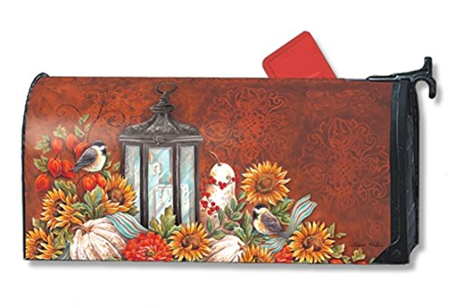 MailWraps Fall Lantern Mailbox Cover 01220