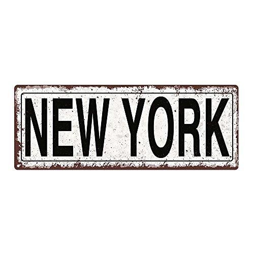 New York Metal Street Sign, Rustic, Vintage (City Sign New York)