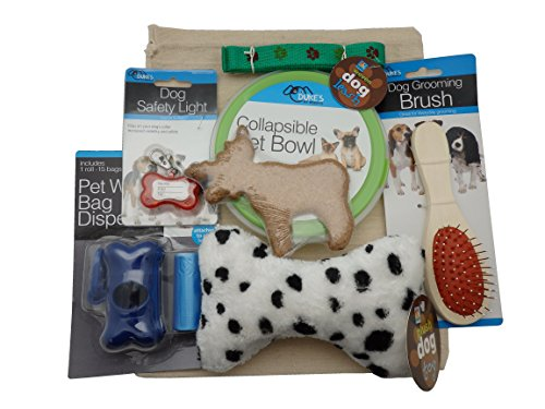 New Puppy Dog Gift Bag in Drawstring Cotton Bag - Deluxe