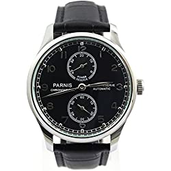 Parnis Men's Portugal Style Automatic Watch Seagull Movement St25 Energy Display