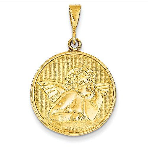14 Carats Pendentif Ange 22 x 22 mm-JewelryWeb