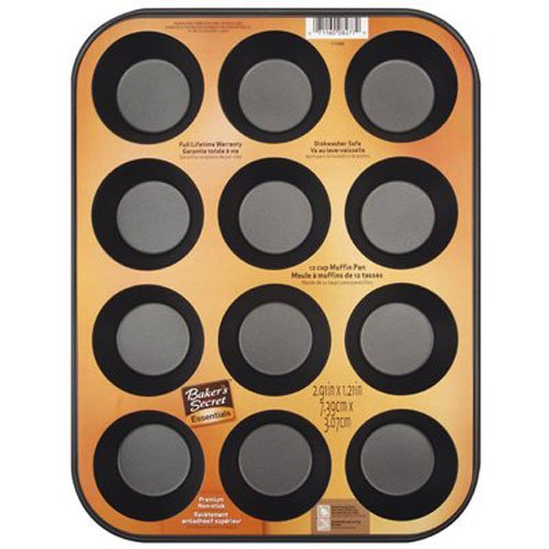 Baker's Secret 1114366 Essentials 12-Cup Muffin - Professional Pan 12 Cup Muffin