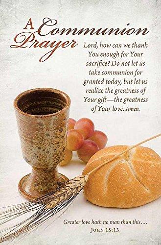 Communion Worship Bulletin 11'' - ''A Communion Prayer...'' - (Pack of 100)