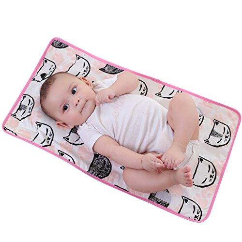 KAKIBLIN Newborn Baby Boy Girl Sleeping Positioner Anti-Flat Head and Neck Support Pillow Mat Pink Cat