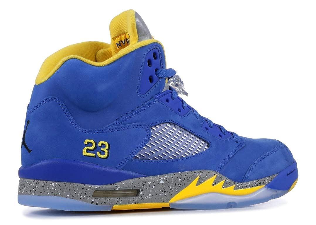 jordan 5 blue and yellow