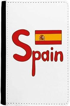 beatChong España Bandera Nacional Patrón De Color Rojo Bolso De Viaje con Pasaporte Tarjeta De La Caja Cubierta De La Carpeta: Amazon.es: Equipaje