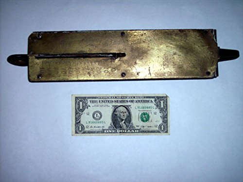 Brass Spring Scale 100# pounds, Detecto Scales No.4100, 14 in. long, vintage antique, fishing, feed, hunting, etc. Man-Cave (4100 Feed)