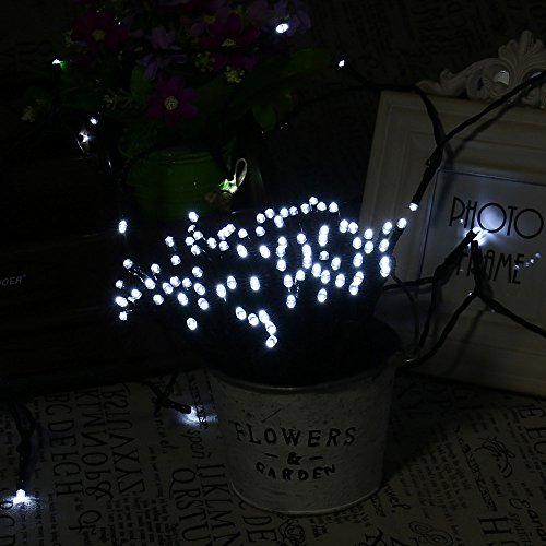 Lumitify 2 Pack Outdoor Solar String Lights, 72ft 200 LED Fairy Solar Lights Decorative for Christmas, Home, Lawn, Patio, Garden, Wedding, Party and Holiday Decorations(White) by Lumitify (Image #3)