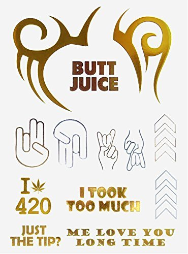 Bachelorette & Bachelor Party Flash Tattoos – Mike Tyson Face Tattoo - College Dorm Room Accessories – Dumb Jokes – College Party Essentials – Funny Gag (Couple Games For Kitty Party)
