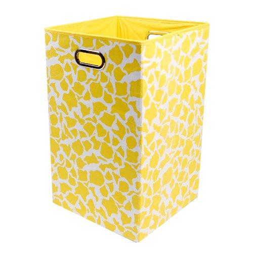 Modern Littles RSTLAUN301 Rusty Giraffe Folding Laundry Basket Yellow