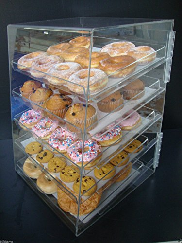 Displays2buy Acrylic Pastry Bakery Donut Bagels Cookie Display Case w/5 trays by Displays2buy (Image #4)