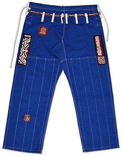 ROLL HARD Brazilian Jiu Jitsu Ripstop Gi Pants Blue (Jiu Jitsu Gi Pants)