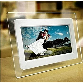 tupucn 7 inch tft lcd wide screen digital 2000 photos display frame with calendar support tf - Electronic Picture Frame