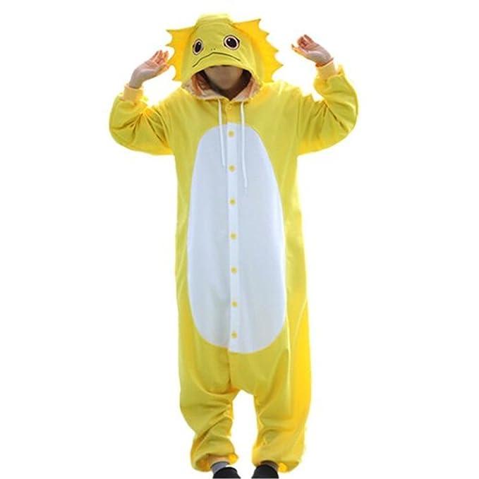 wotogold Animal Traje de Cosplay Lagartija Onesies Hombre Mujer Unisex Piyama Adultos Pijamas Yellow