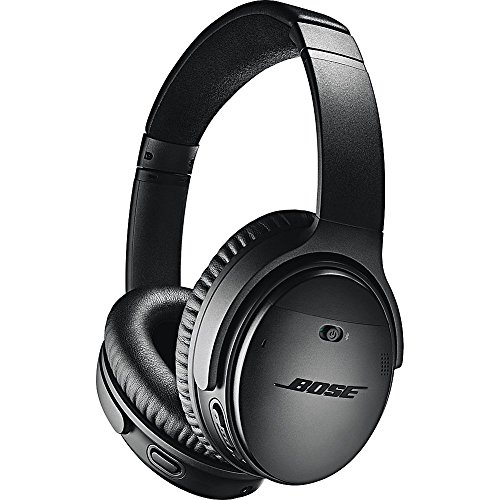 Bose QuietComfort 35 (Series II) Wireless Headphones, Noise Cancelling - Black (Over Ear Headphones Bose)