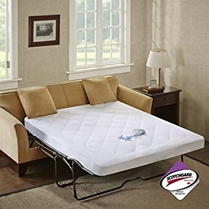 Amazon Sleep Philosophy Holden Waterproof Sofa Bed Pad with 3M Moisture Management Queen
