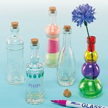 Botellas de cristal para manualidades - Caja de 6