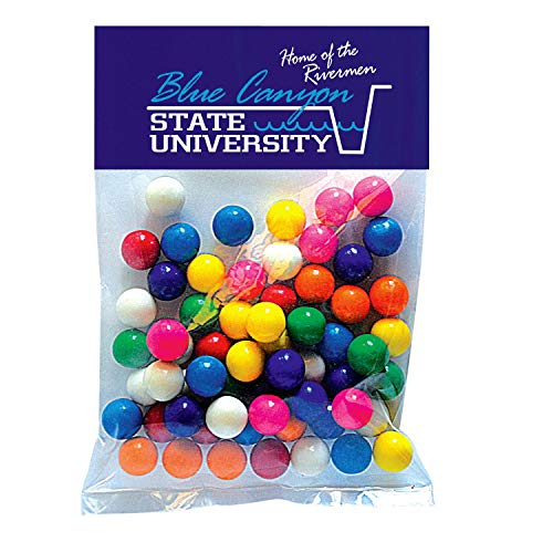 Candy Gift Pack-Gum Balls with CUSTOMIZED Business Card Magnet in Large Header Pack- BULK Quantities-100, 250, 500 or…