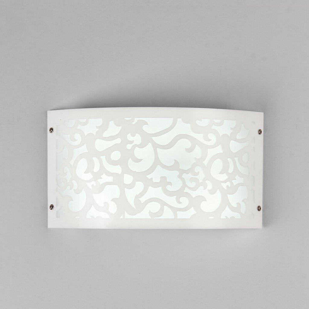 FXING Einfache Moderne Acryl Wandleuchte im Europäischen Stil Wohnzimmer Schlafzimmer Wand Lampe Nachttischlampe Balkon Gang Leuchten (Farbe  weißes Licht-B-LED)