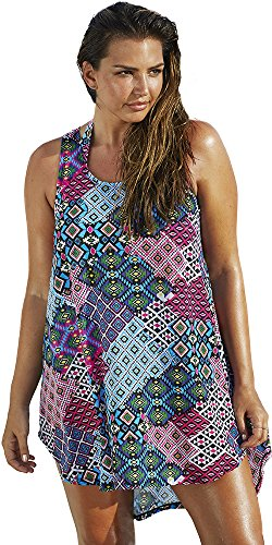 swimsuitsforall Womens Moroccan Patchwork High Low product image