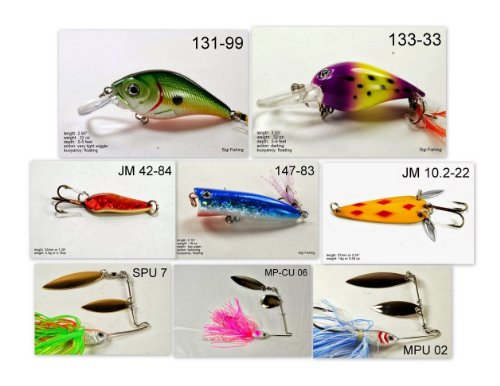 Akuna [CT] Pros' pick recommendation collection of lures for Bass, Panfish, Trout, Pike and Walleye fishing in Connecticut(Pan Fish 8-A)