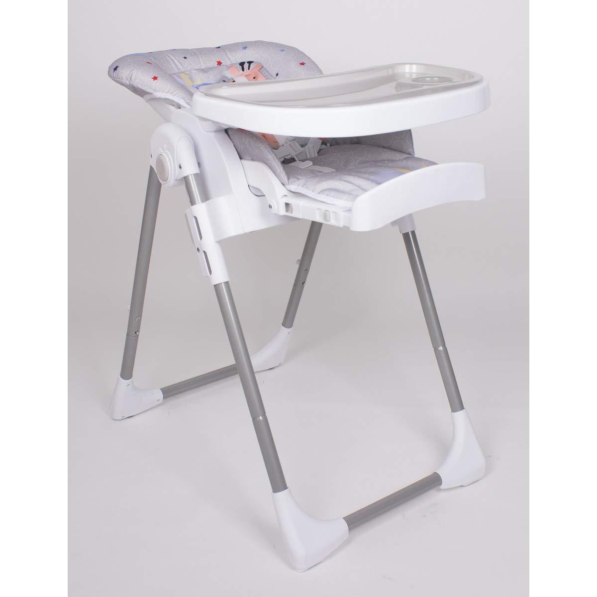 Regulable en 6 alturas Ultraligera Trona Jirafa Plegable para beb/és de 6 a 36 meses