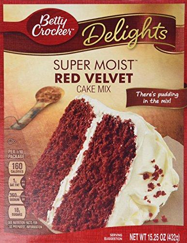 Betty Crocker Red Velvet Cake Mix 15.25oz per box (Pack of 2)