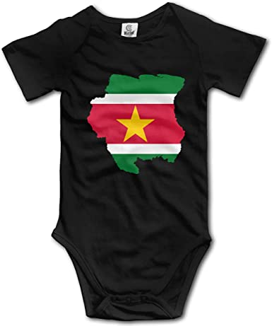 CUTEDWARF Baby Short-Sleeve Onesies Suriname Flag Bodysuit Baby Outfits