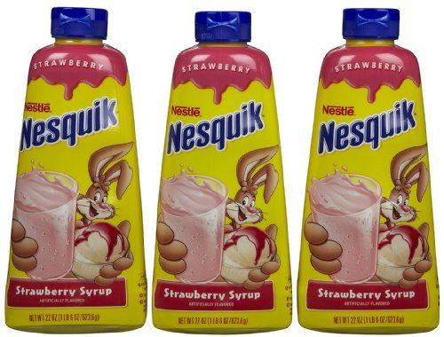 Quik Bunny - Nesquik Syrup - Strawberry - 22 oz - 3 pk