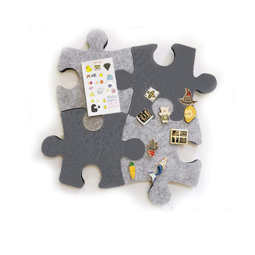 Tableau daffichage mural hexagonal carr/é avec cercle autocollant pour garder photos etc notes photos m/émos objectifs dessins Puzzle B Lot de panneaux en feutre de li/ège