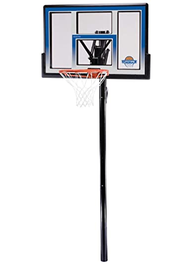 lifetime height adjustable in ground basketball system 48 inch backboard - In Ground Basketball Hoop