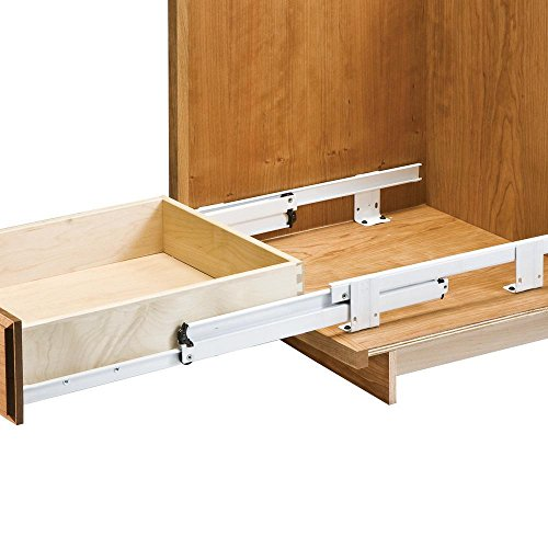 - 18'' Floor Mount 3/4 Extension Rollout Tray Slides