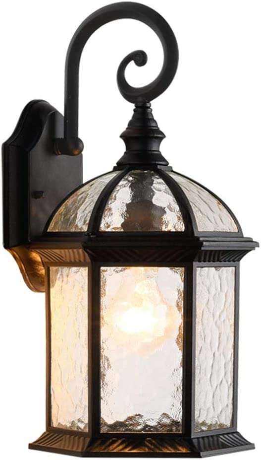 LONEDRUID Outdoor Wall Light Fixtures Black 15.35
