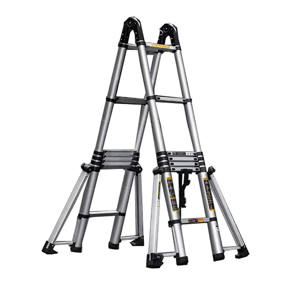 踏み台 はしごはしごアルミはしご多機能持ち上がる階段工学はしご動かされた厚く折られた梯子世帯の延長はしごを伸ばす (サイズ さいず : 2.5m+2.5m) B07PW3VZLZ   2.5m+2.5m