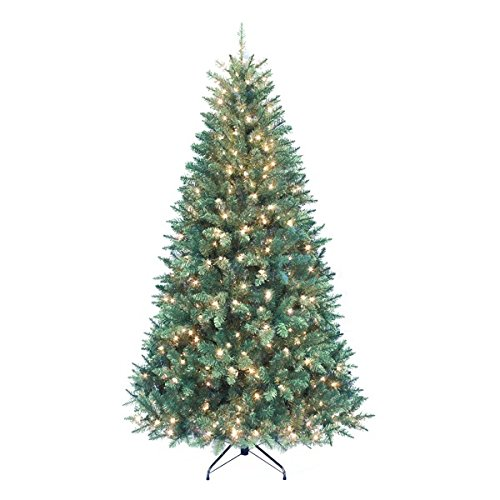 Kurt Adler Pre-Lit Point Pine Christmas Tree, 7-Feet, with 350 Clear Lights (Trees Christmas)
