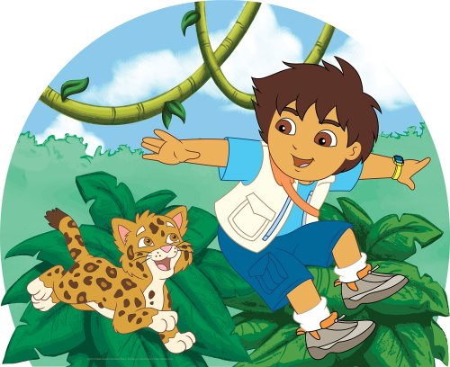 Go Diego Go Wall Appliques (Brewster 147-71176 Nickelodeon Go Diego Headboard Mural)
