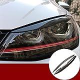 Carbon Fiber Headlight Eye Lid Eyebrow Cover for Volkswagen VW Golf 7 GTI GTD Mk7 2013-2018