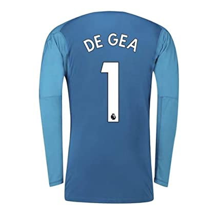 reputable site 377fa e7e84 ZZXYSY DE GEA #1 Manchester United Kids and Men's Goalkeeper Jersey/Short  Colour Blue